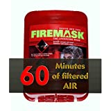 Firemask F-60 Fume, Gas and Smoke Mask with Hood for Fire Safety in Tall Buildings, Hospitals, Schools, Retirement Homes, Emergency Vehicles. Breath Easily for 60+ Minutes even in Heavy Smoke. Made for Children and Adults.