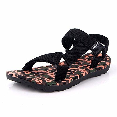 estate Roma sandali Uomini moda Il nuovo Camuffare sandali Uomini Tempo libero Spiaggia scarpa ,arancia,US=9,UK=8.5,EU=42 2/3,CN=44