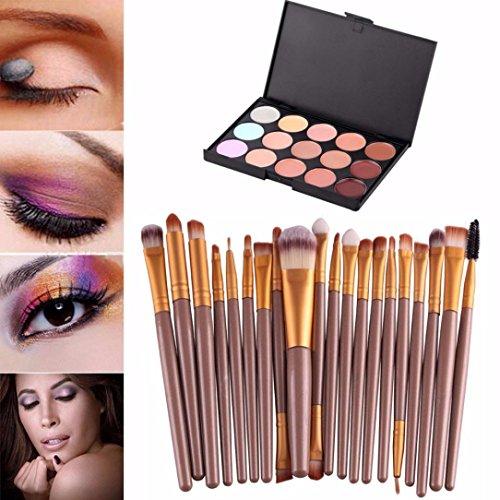 Sankuwen 15 Colors Contour Face Cream Makeup Concealer Palette Professional + 20 BRUSH (#2)