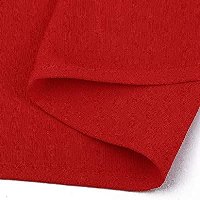HIRIRI Womens Mini Tank Dresses V Neck Sleeveless Pleated Cold Shoulder Casual Short Mini T-Shirt Dress: Clothing
