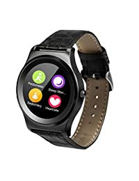 Bluetooth Smart Watch,1.3 in Toutch Screen Heart Rate Monitor Health Tracker Activity Fitness Wristband Pedometer for iOS and Android Fitness Tracker Best Gift for Valentine's Day, Anniversary, Birthday