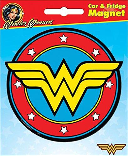 Ata-Boy DC Comics Die-Cut Wonder Woman Logo Magnet for Cars, Refrigerators and - Fridge Womens Refrigerator Magnets