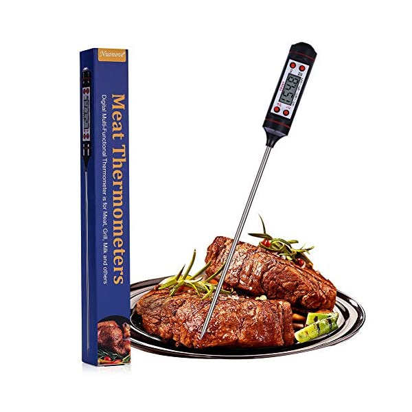 Nuonove Termometro Cucina, Termometri Carne, Termometro Digitale per Alimenti, Schermo LCD, per BBQ Cottura Alimenti… 1