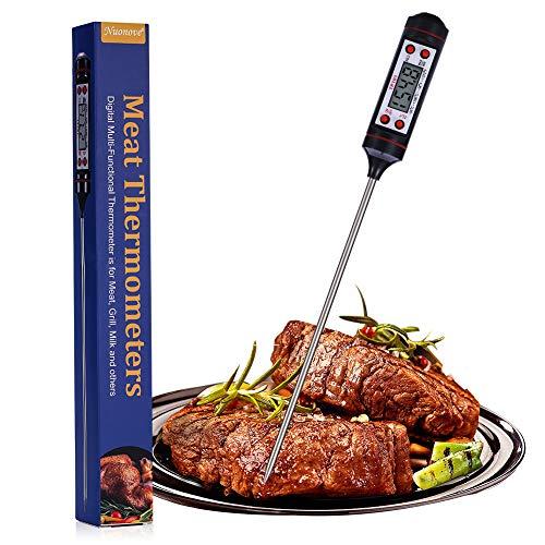 Nuonove Termometro de Cocina, Termómetro para Carne, Termómetro de Alimentos, Termómetro para Carne Digital, Sonda Súper…