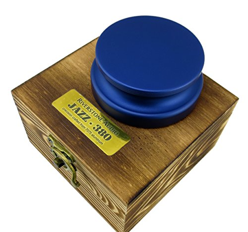 Riverstone Audio - Jazz Series 380 Record Weight Stabilizer - Medium Weight (380 g) Anodized Aluminum Color: (Sapphire Blue)