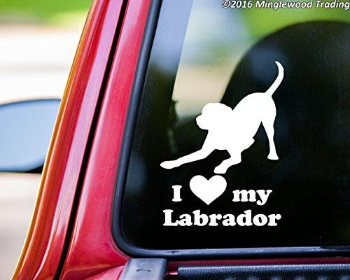 Labrador Chocolate Sticker (Minglewood Trading I Love My Labrador vinyl decal sticker 6