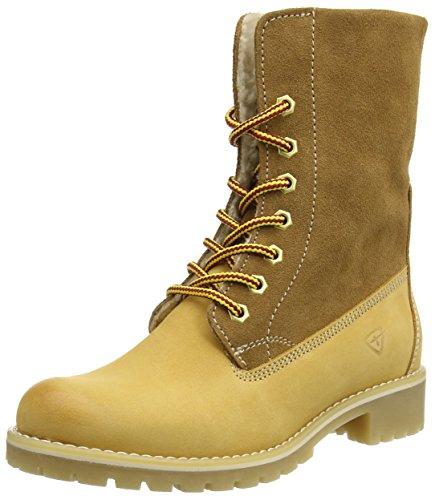 Tamaris Damen 26443 Combat Boots, Beige (Cream), 43 EU