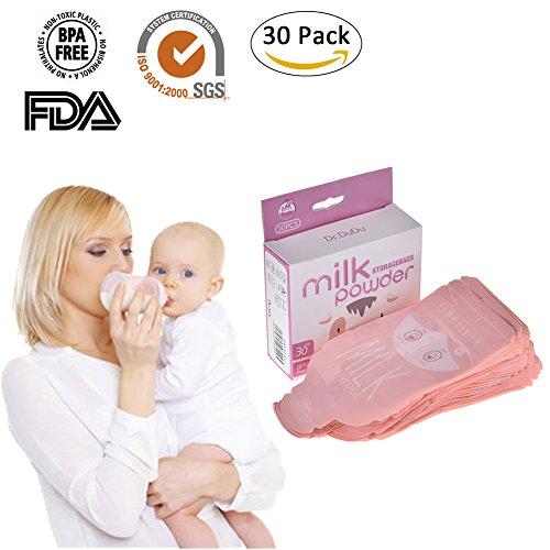 30pcs Portable Baby Formula Pouch Bag Milk Powder Dispenser Box Storage Bag BPA Free Toddlers Disposable Box Organizer