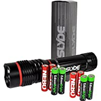 Nebo 6156 Slyde 250 Lumen LED flashlight/Worklight with 4 X EdisonBright AAA alkaline batteries. Dual light sources. Magnetic Base