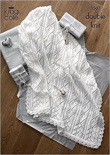 King Cole Baby Shawls 4 Ply Dk Knitting Pattern 3507 Amazon Co Uk
