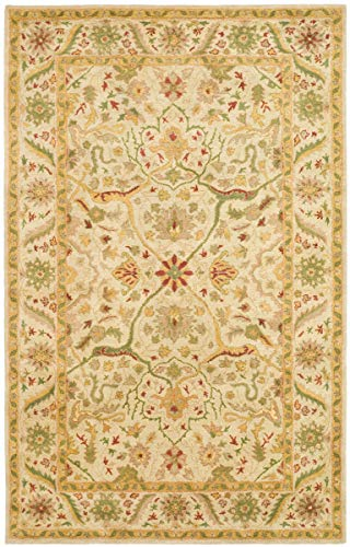 Safavieh Antiquities Collection AT14A Handmade Traditional Oriental Ivory Wool Area Rug 4 x 6