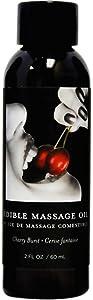 Earthly Body Cherry Edible Massage Oil, 2 Ounce