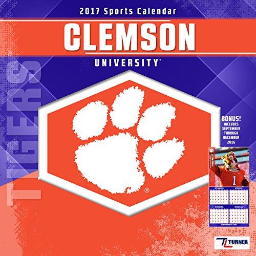 Turner Licensing Sport 2017 Clemson Tigers Team Wall Calendar, 12