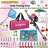 ODDSPRO Kids Fishing Pole, Portable Telescopic