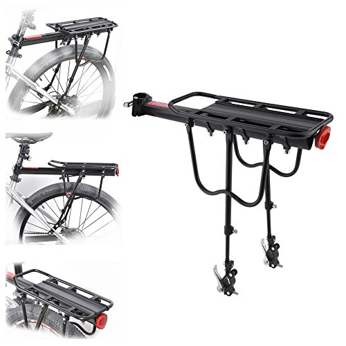 Quick Release Bicycle Rear Rack Bike Luggage Carrier Seatpost Bag Holder by CLKJYF
