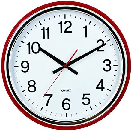 ISHIWA 16-inch Large Easy to Read 3D Numerals Quartz Wall Clock Quiet Non-Ticking Movement