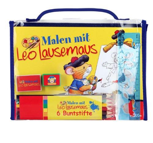 Malen mit Leo Lausemaus: Mal-Set mit Malvorlagen, Buntstiften ...