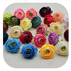Memoirs- Silk Small Tea Buds Roses Head Fake Stamen for Home Wedding Decor Bridal Accessories DIY Gifts Box Artificial Flowers 117