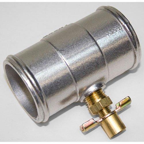 PRW 5292201 Universal As-Cast Aluminum Inline Coolant Hose Drain (Radiator Drain Hose)