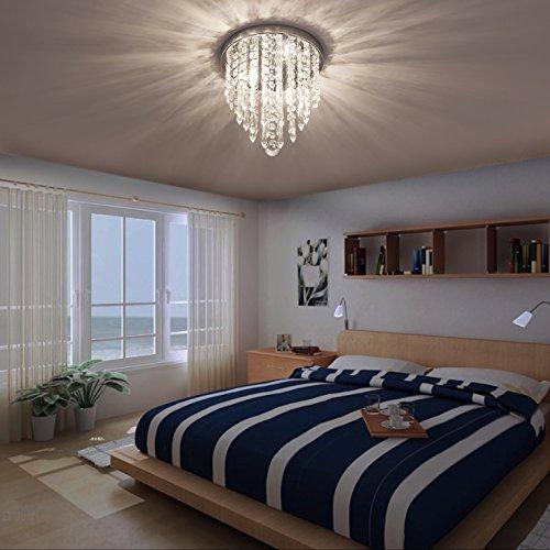 lifeholder Mini Chandelier, Crystal Chandelier Lighting, 2 Lights, Flush Mount Ceiling Light, H10.4'' x W8.66'' Modern Chandelier Lighting Fixture for Bedroom, Hallway, Bar, Kitchen, Bathroom by lifeholder (Image #7)