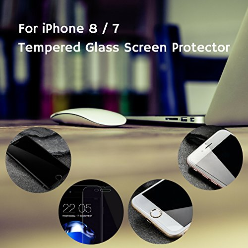 low-cost iPhone 8, 7 Screen Protector, Glass 2 Pack, Onc Tech Set of 2 Protectors and Installation Kits, 0.33mm Thickness Tempered Glass, Scratch Finger Print Resistant, High Definition 99.9% Transparency