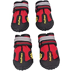 Dumanfs 2017 Summer Waterproof Pet Boots for Medium to Large Dogs Labrador Husky Shoes (4)