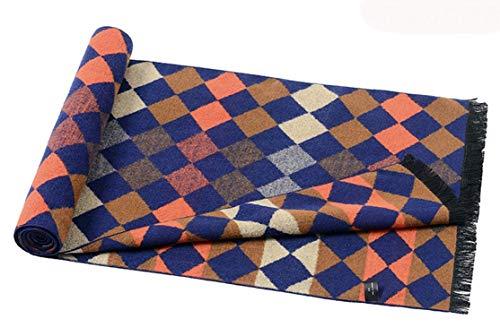 180cm Couverture Bleu Treillis Artificielle Automne Pour Hommes Laine Amdxd Rhombe Changer Hiver Écharpe Écharpes 7gTUqY