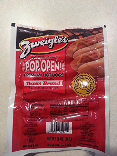 Zweigle's Pop Open Red Hots (15 one lb (15 Hot Pops)