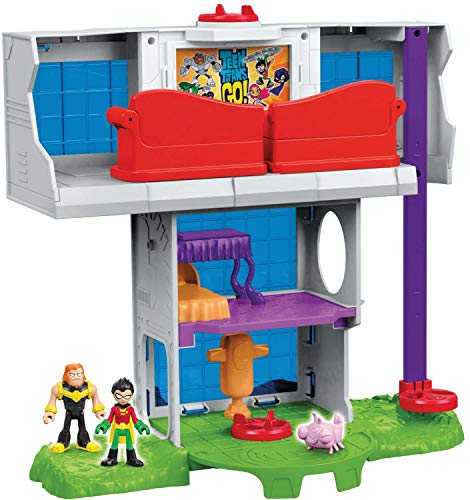 Fisher-Price Imaginext Teen Titans Go! Tower Playset]()