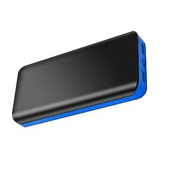 FKANT Batería Externa Movil Power Bank 25000mAh Carga Rápida Cargador Portátil de Alta Capacidad con 2 Salidas USB 4 Indicadores LED para iPhone11 ...