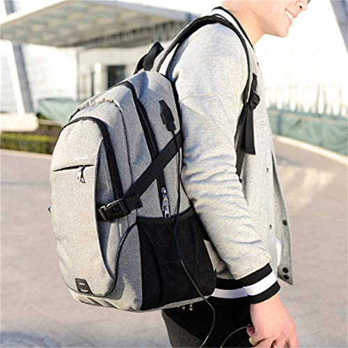Business Laptop Backpack With USB Travel Bag 15.6 Inch Computer Notebook Mochila MaleGray321848CM