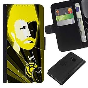 iBinBang / Flip Funda de Cuero Case Cover - Divertido Chuck N Karate Dios - HTC One M9