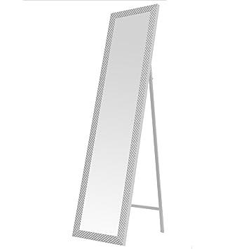 espejo de pie moderno blanco de plstico para dormitorio de x cm fantasy