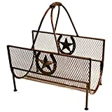 Leigh Country TX 93687 Log Holder with Horseshoe and Star