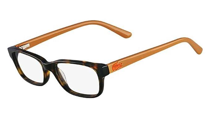 5c4b314ba478 Image Unavailable. Image not available for. Color  Lacoste L3606 Eyeglasses  214 Havana 47-16-130
