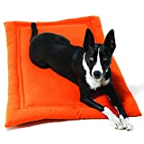 Jax and Bones  42 x 28-Inch Crypton Water Resistant Cozy Dog Mat, X-Large, Persimmon