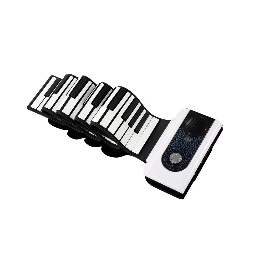 AXJQ Hand Roll Piano, Roll Up Piano, Portable Foldable 88 Keys Flexible Soft Silicone Electronic Music Keyboard Piano by AXJQ