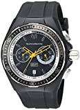 Image of Technomarine Men's 'Cruise' Quartz Stainless Steel and Silicone Casual Watch, Color:Black (Model: TM-115331)