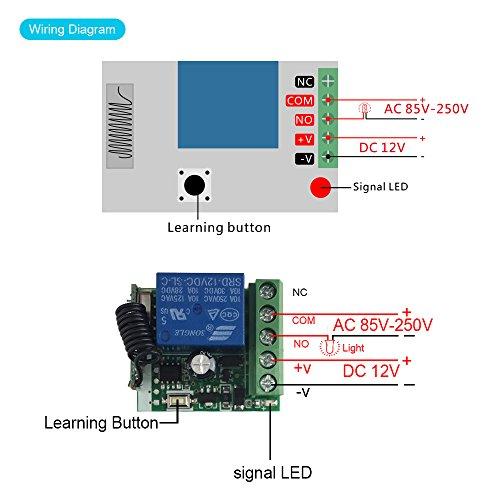 QIACHIP 433Mhz Universal Wireless Remote Control Switch DC
