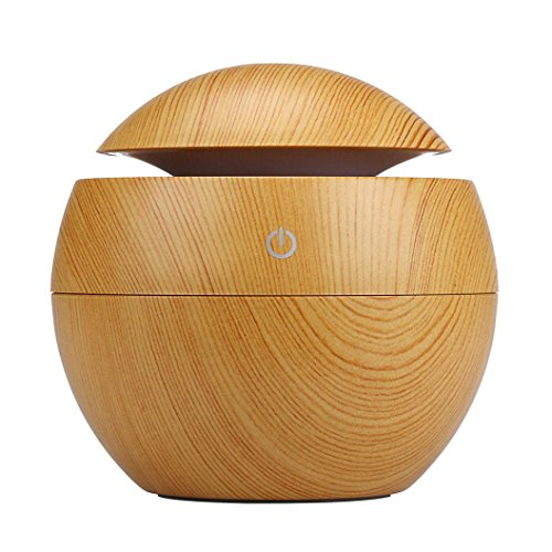 Gotd 130ml Humidifier LED Aroma Essential Oil Diffuser Purifier Atomizer for Office Home Bedroom Living Room Yoga Spa, Yellow