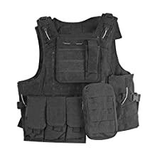 Tactical Vest, OFTEN Cycling Waistcoats Special Troop Armor and Equipment Amphibian Jacket(Black)