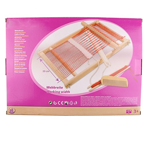 Mikimiqi Wooden Multi-Craft Weaving Loom Large Frame 11.4x 15.7x 1.3inches to Handcraft for Kids
