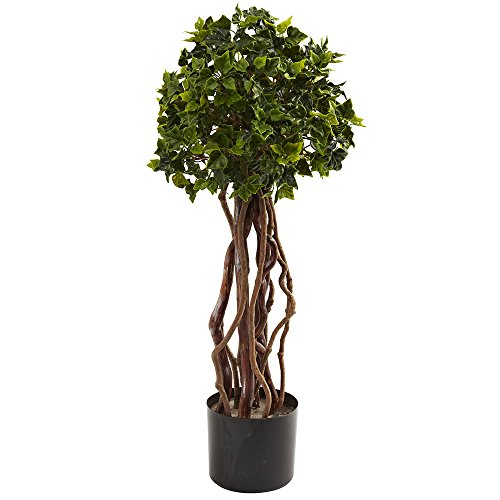 - Nearly Natural 2.5� English Ivy Topiary UV Resistant (Indoor/Outdoor)