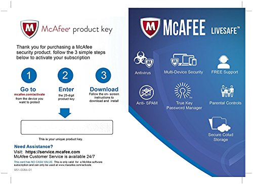 Mcafee Livesafe Ultimate Protection 1 Year Subscription For All