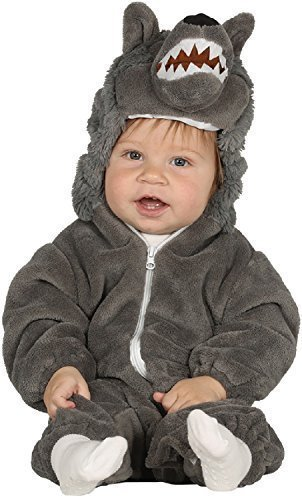 Baby Girls Boys Big Bad Wolf Book Day Nursery Rhyme Cute Halloween Fancy Dress Costume Outfit 6-12-24 Months (6-12 Months)]()