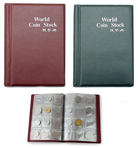 Gooday Useful 120 Coin Holder Collection Storage Penny Money Coin Pocket Album Book Coin Collecting (120 Capsules Roll)