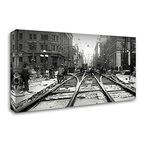 Bay and Wellington 66x42 Huge Gallery Wrapped Stretched Canvas Art by PI Collection