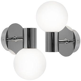 2er Set Wandleuchten Bad Lampen Spiegel Leuchten Beleuchtung Wandlampen
