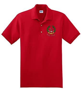 95c020d3 Personalized custom embroidered golf crest on polo shirt at Amazon Men's  Clothing store: