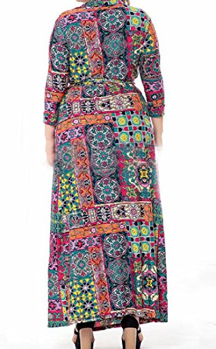 Cou V Profond Des Femmes Coolred Occasionnel Taille Plus Robe De Base Mi Longueur Image 5xl
